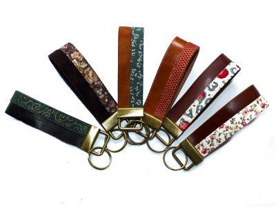 Schlüsselband Leder & Stoff