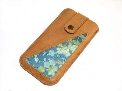 Handytasche Leder hellbraun Smartphonetasche