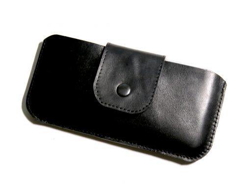 Handytasche Smartphonetasche schwarz komplett Leder