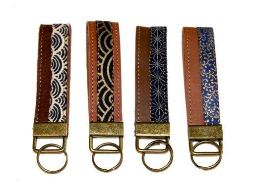 Schlüsselbänder, Schlüsselanhänger Leder und Stoff 2