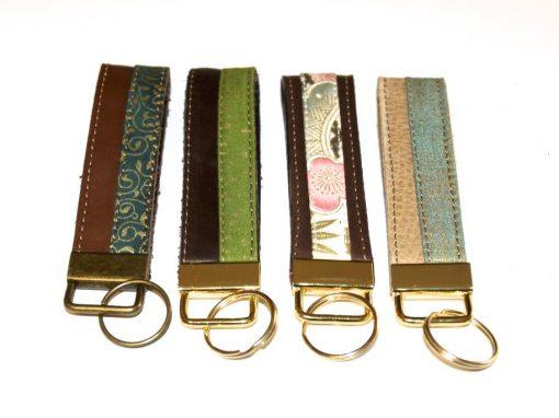 Schlüsselbänder, Schlüsselanhänger Leder und Stoff 4