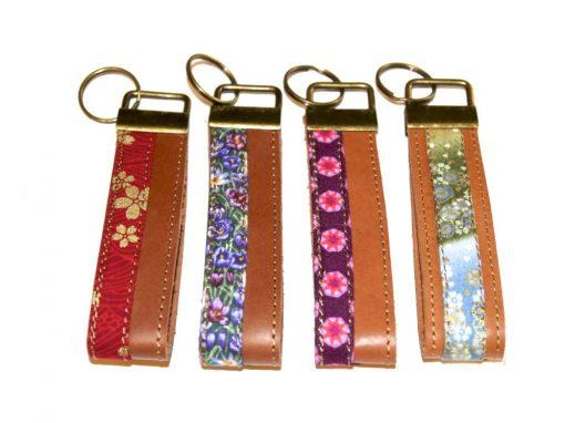 Schlüsselbänder, Schlüsselanhänger Leder und Stoff 1