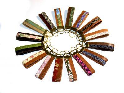 Schlüsselbänder, Schlüsselanhänger Leder und Stoff