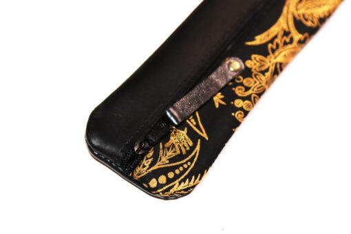 Federmäppchen schwarz gold ornamente 1