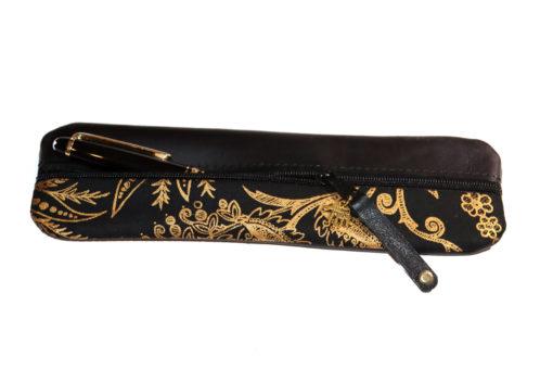 Federmäppchen schwarz gold ornamente 2