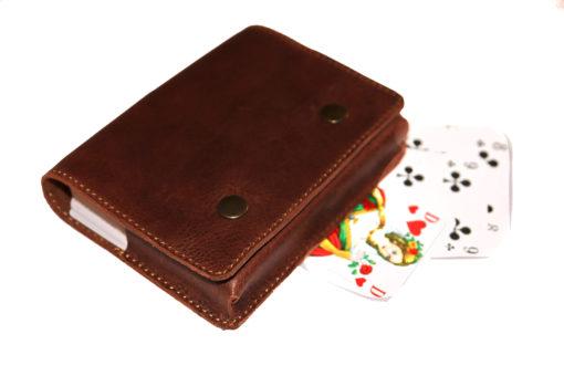 Spielkartenetui Leder
